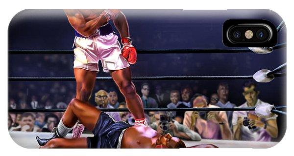 Cassius Clay Vs Sonny Liston IPhone Case