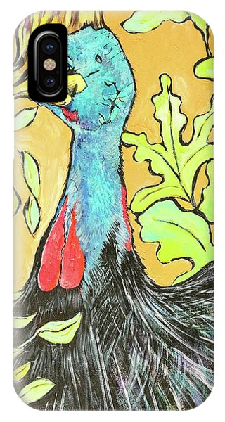 iPhone Case - Cassowary Bird Painted From Zoo Atlanta by Arrin Burgand