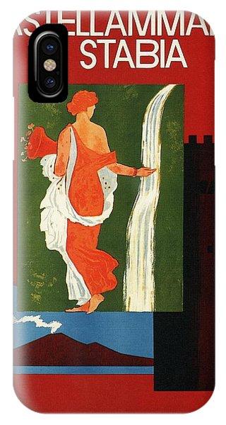 Advertising iPhone Case - Castellammare Di Stabia, Naples, Italy - Retro Travel Poster - Vintage Poster by Studio Grafiikka