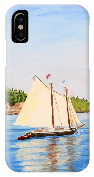 Castine Harbor And Dice Head Light IPhone Case