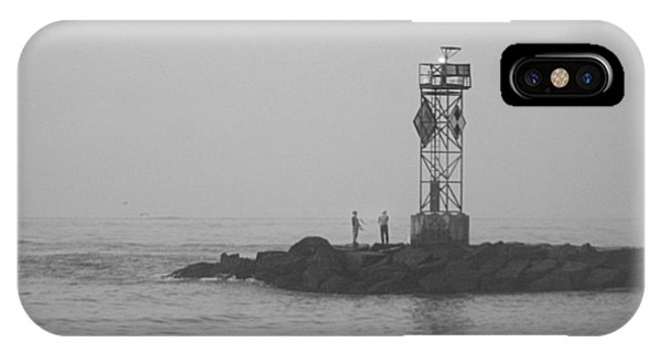 IPhone Case featuring the photograph Casting At The Inlet Jetty by Robert Banach
