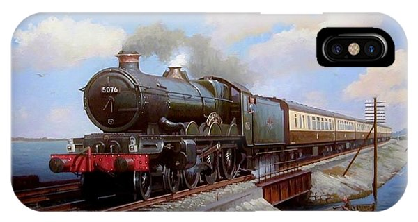 Passenger Train iPhone Case - Castle At Starcross by Mike Jeffries