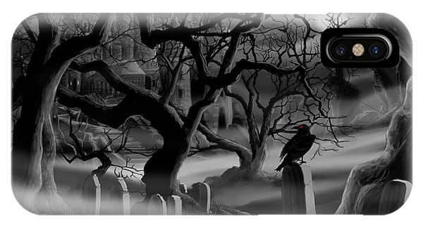 Castle Graveyard I IPhone Case