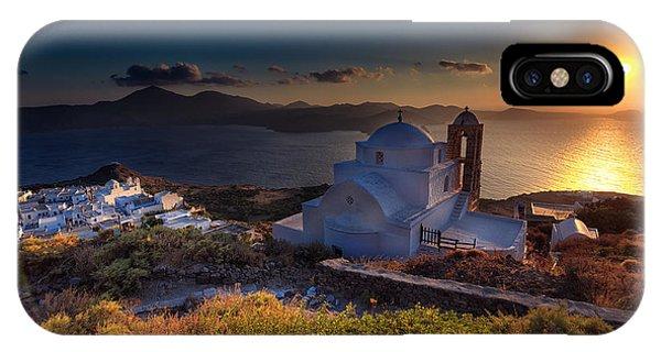 Castle In Milos At Plakas IPhone Case