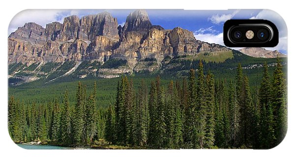 Castle Mountain Banff The Canadian Rockies IPhone Case