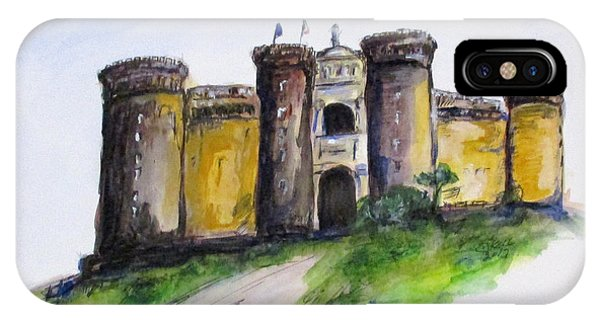 IPhone Case featuring the painting Castle Nuovo, Napoli by Clyde J Kell
