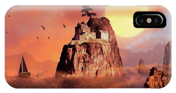 Castle On Seastack IPhone Case