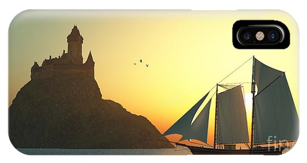 Schooner iPhone Case - Castle On The Sea by Corey Ford