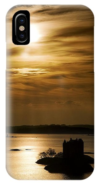 Castle Stalker At Sunset, Loch Laich IPhone Case