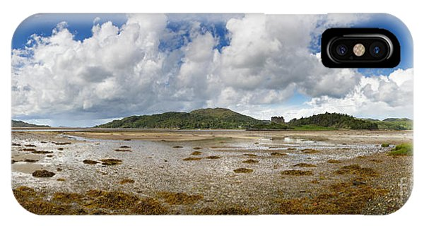 Tidal iPhone Case - Castle Tioram Panorama by Jane Rix