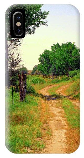 Castledale Farm Road IPhone Case