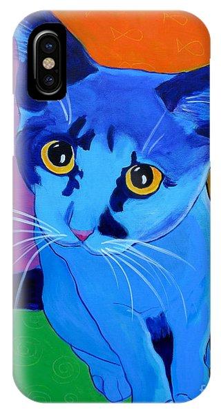 Cat - Kitten Blue IPhone Case