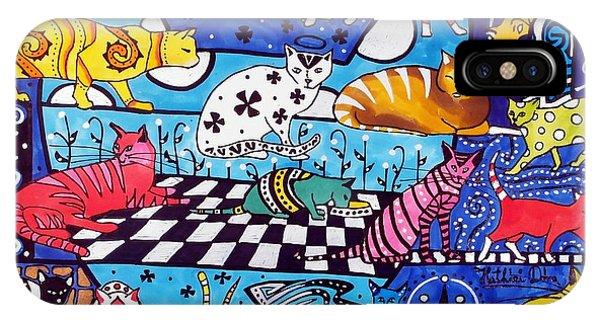 Cat Cocktail - Cat Art By Dora Hathazi Mendes IPhone Case