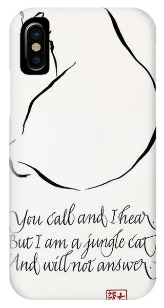 Cat Haiku IPhone Case