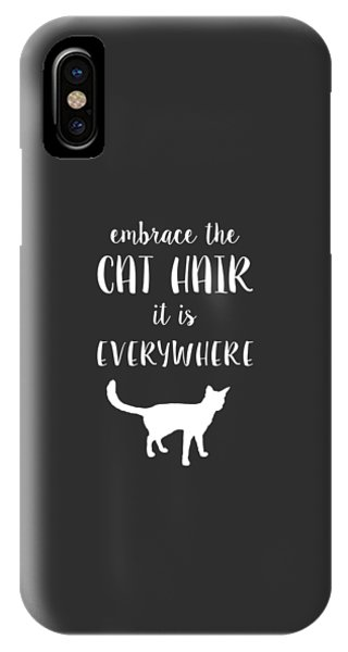 IPhone Case featuring the digital art Cat Hair by Nancy Ingersoll