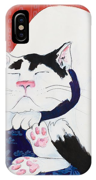 Cat I - Asleep IPhone Case