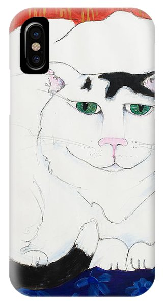 Cat II - Cat Dozing Off IPhone Case