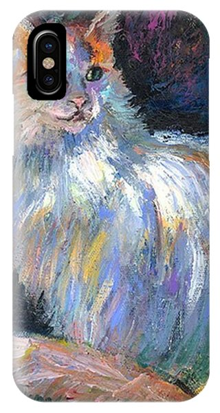 iPhone Case - Cat In A Sun Painting By Svetlana by Svetlana Novikova