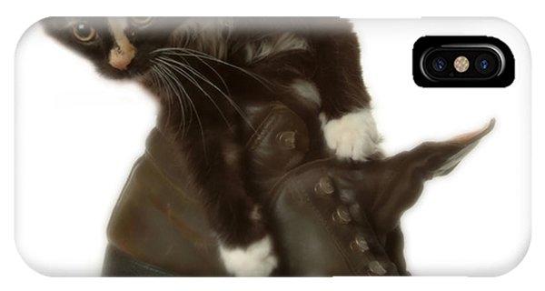 Cat In Boot IPhone Case