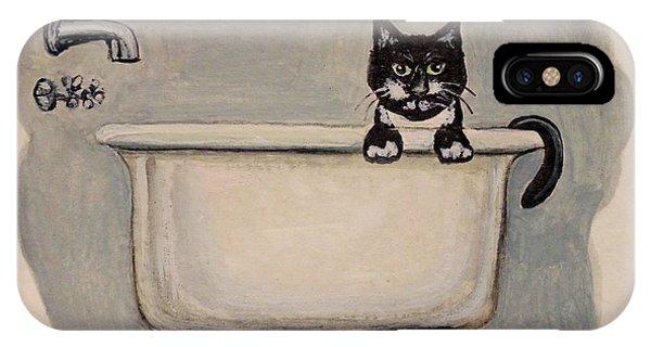 Cat In The Bathtub IPhone Case
