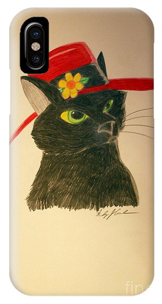 Cat In The Red Hat IPhone Case