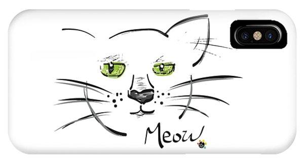 Cat Meow IPhone Case