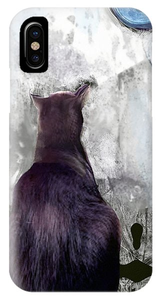 Cat's Blue Moon IPhone Case