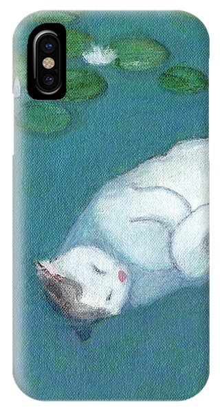 Cat On Vacation IPhone Case