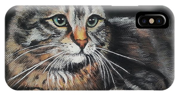 Cat Pastel Drawing IPhone Case