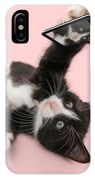 Cat Selfie IPhone Case