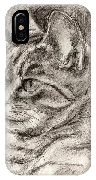 Cat Study Drawing No Three IPhone Case