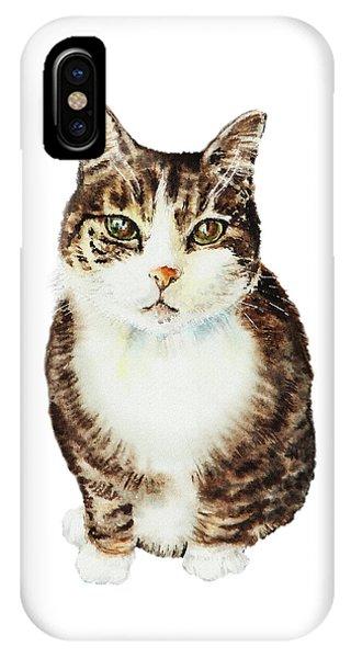 Watercolor Pet Portraits iPhone Case - Cat Watercolor Illustration by Irina Sztukowski