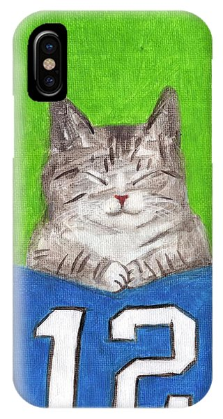 Cat With 12th Flag IPhone Case