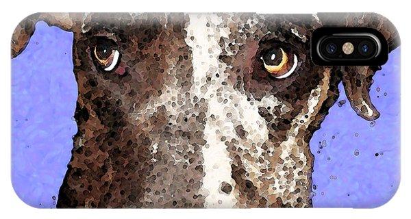 Soulful iPhone Case - Catahoula Leopard Dog - Soulful Eyes by Sharon Cummings
