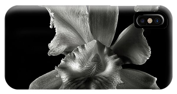 Catalea Orchid In Black And White IPhone Case