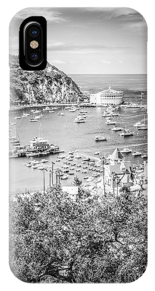 Catalina Island Vertical Black And White Photo IPhone Case