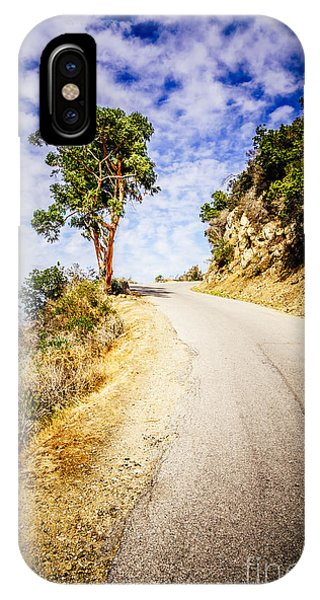 Catalina Island Wrigley Road In The Mountains IPhone Case