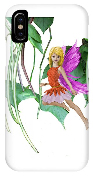 Catalpa Tree Fairy Among The Seed Pods IPhone Case