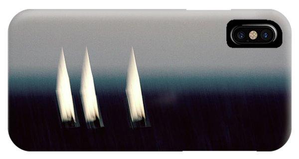 Navigation iPhone Case - Catamaran Raceing by Stelios Kleanthous