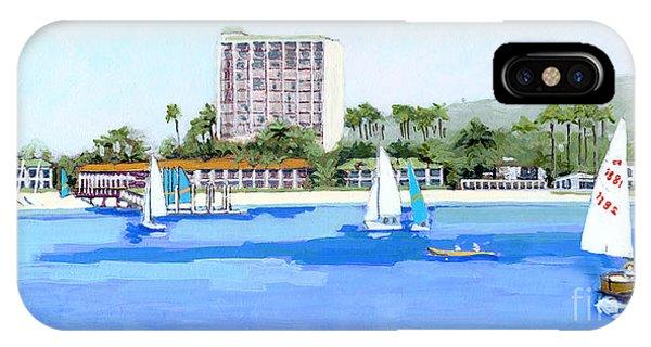 Catamaran iPhone Case - A Blue Sail by Paul Strahm