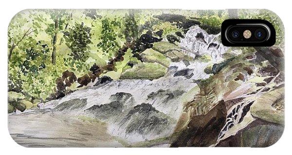 Catawba Falls - A Watercolor Sketch IPhone Case