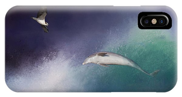 Ospreys iPhone Case - Catch A Wave by Kim Hojnacki