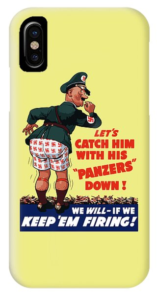 Political iPhone Case - Catch Him With His Panzers Down by War Is Hell Store