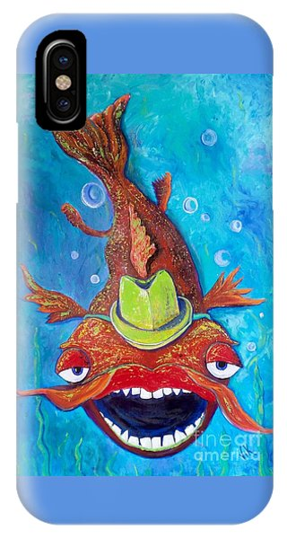 IPhone Case featuring the painting Catfish Clyde by Vickie Scarlett-Fisher