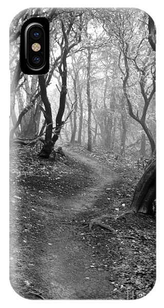 Cathedral Hills Serenity In Black And White IPhone Case