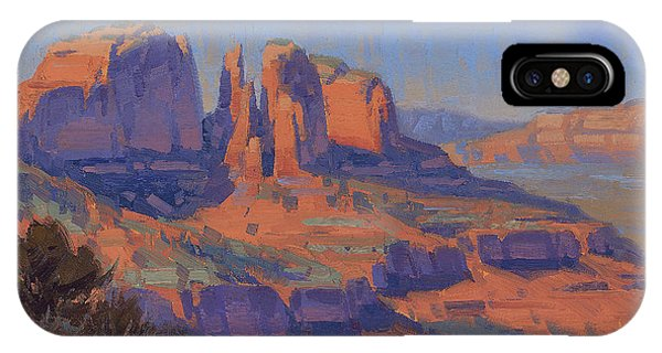Cathedral Rock iPhone Case - Cathedral In The Heat by Cody DeLong