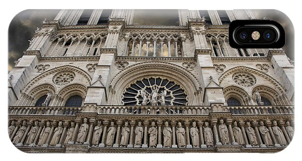Porches iPhone Case - Cathedral Notre Dame Of Paris. France   by Bernard Jaubert