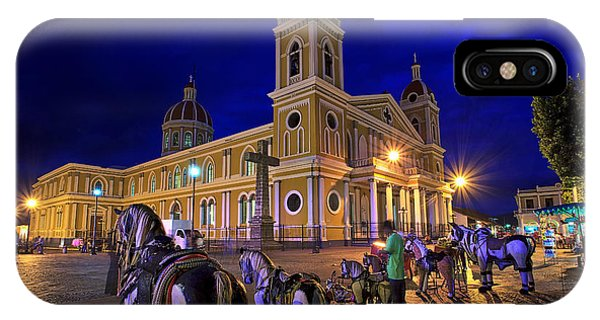 Cathedral Of Granada Shines Brightly IPhone Case