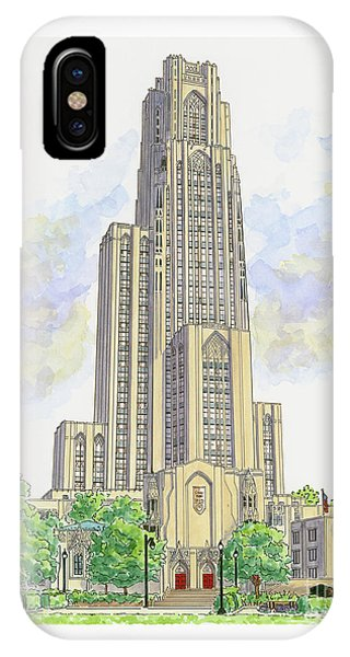 Cathedral Of Learning IPhone Case