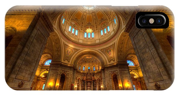 Cathedral Of St Paul Wide Interior St Paul Minnesota IPhone Case